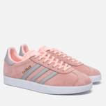 Женские кроссовки adidas Originals Gazelle Pink/Grey/White фото- 1