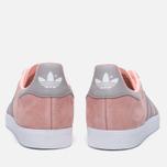 Женские кроссовки adidas Originals Gazelle Pink/Grey/White фото- 3