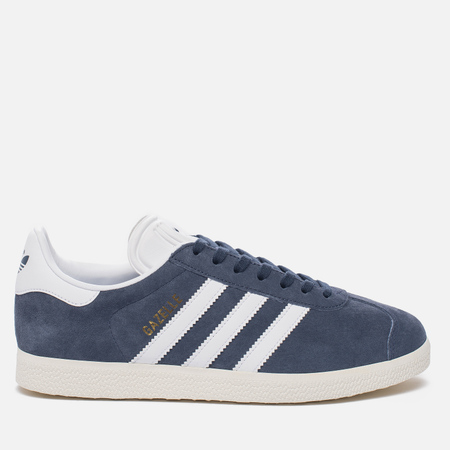 Женские кроссовки adidas Originals Gazelle True Blue/White/Gold Metallic