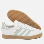 Женские кроссовки adidas Originals Gazelle Vintage White/Vapour Green/Gum фото- 1