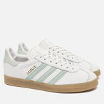Женские кроссовки adidas Originals Gazelle Vintage White/Vapour Green/Gum фото- 2