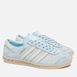 Женские кроссовки adidas Originals Hamburg Ice Blue/Off White фото- 1