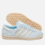 Женские кроссовки adidas Originals Hamburg Ice Blue/Off White фото- 2