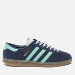 Женские кроссовки adidas Originals Hamburg Midnight Grey/Easy Green/Gum фото- 0