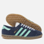 Женские кроссовки adidas Originals Hamburg Midnight Grey/Easy Green/Gum фото- 2