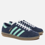 Женские кроссовки adidas Originals Hamburg Midnight Grey/Easy Green/Gum фото- 1