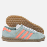 Женские кроссовки adidas Originals Hamburg Tactile Green/Sun Glow/Gum фото- 2