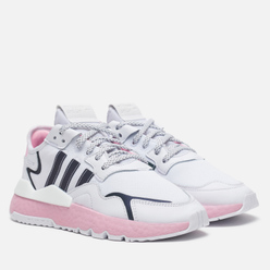 Женские кроссовки adidas Originals Nite Jogger Cloud White/True Pink/Core Black