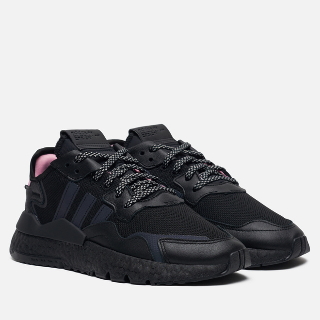 Женские кроссовки adidas Originals Nite Jogger Core Black/True Pink/Cloud White