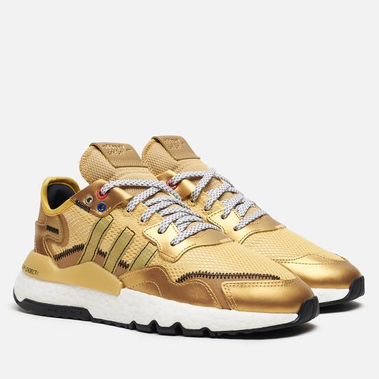 Женские кроссовки adidas Originals Nite Jogger Gold Metallic/Core Black/Gold Metallic