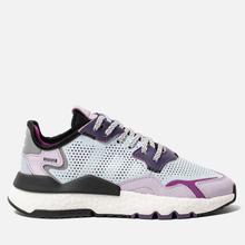 Женские кроссовки adidas Originals Nite Jogger Sky Tint/Vivid Pink/Purple Tint фото- 3