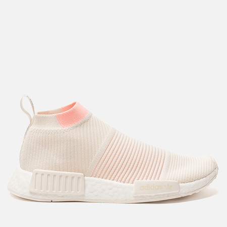 3115919659e2 Женские кроссовки adidas Originals NMD City Sock 1 Primeknit Cloud  White Cloud White Clear