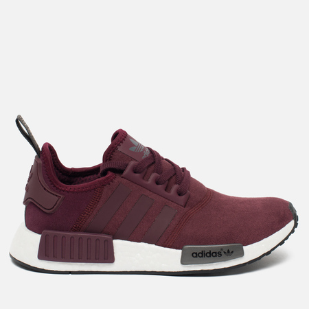 Женские кроссовки adidas Originals NMD R1 Maroon/Solid Grey