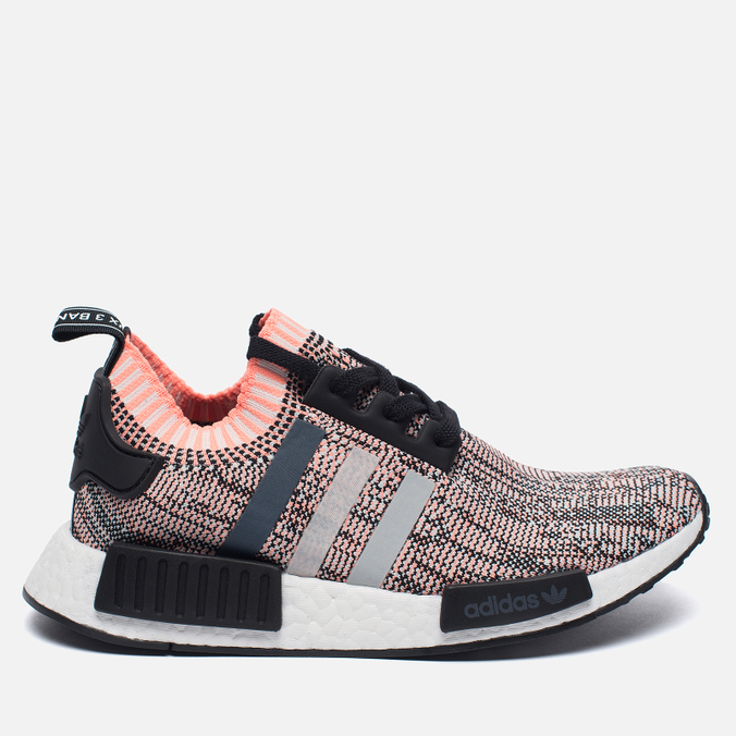 Женские кроссовки adidas Originals NMD R1 Primeknit Salmon Pink/White/Core Black
