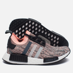 Женские кроссовки adidas Originals NMD R1 Primeknit Salmon Pink/White/Core Black фото- 1