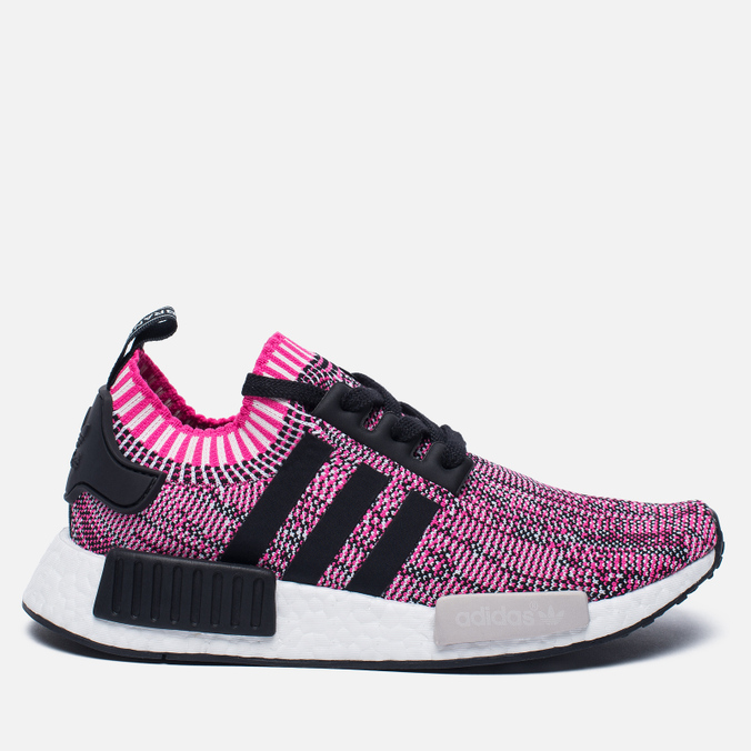 Женские кроссовки adidas Originals NMD R1 Primeknit Shock Pink/Core Black/White