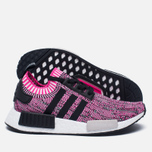 Женские кроссовки adidas Originals NMD R1 Primeknit Shock Pink/Core Black/White фото- 1