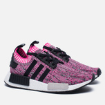 Женские кроссовки adidas Originals NMD R1 Primeknit Shock Pink/Core Black/White фото- 2
