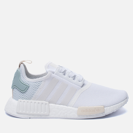 Женские кроссовки adidas Originals NMD R1 White/White/Tactile Green