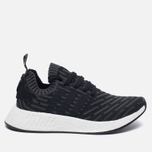 Женские кроссовки adidas Originals NMD R2 Primeknit Black/Dark Grey/White фото- 0