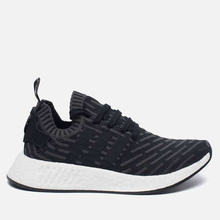 Женские кроссовки adidas Originals NMD R2 Primeknit Black/Dark Grey/White