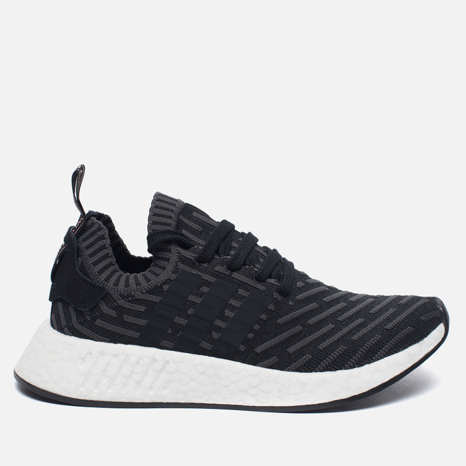 Женские кроссовки adidas Originals NMD R2 Primeknit Black/Dark Grey/White