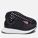 Женские кроссовки adidas Originals NMD R2 Primeknit Black/Dark Grey/White фото- 1