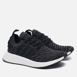 Женские кроссовки adidas Originals NMD R2 Primeknit Black/Dark Grey/White фото- 2