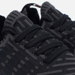 Женские кроссовки adidas Originals NMD R2 Primeknit Black/Dark Grey/White фото- 3