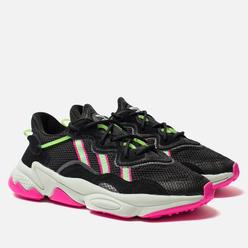 Женские кроссовки adidas Originals Ozweego Core Black/Shock Lime/Shock Pink