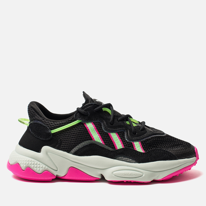 Женские кроссовки adidas Originals Ozweego Core Black/Shock Lime/Shock Pink