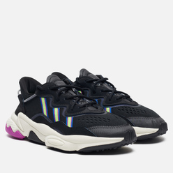Женские кроссовки adidas Originals Ozweego Core Black/Solar Green/Vivid Pink