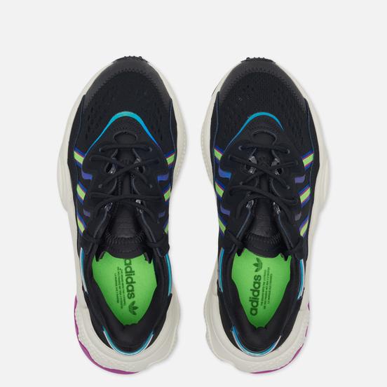 Женские кроссовки adidas Originals Ozweego Core Black/Solar Green/Vivid Pink