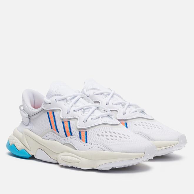 Женские кроссовки adidas Originals Ozweego White/Signal Coral/Blue Glow