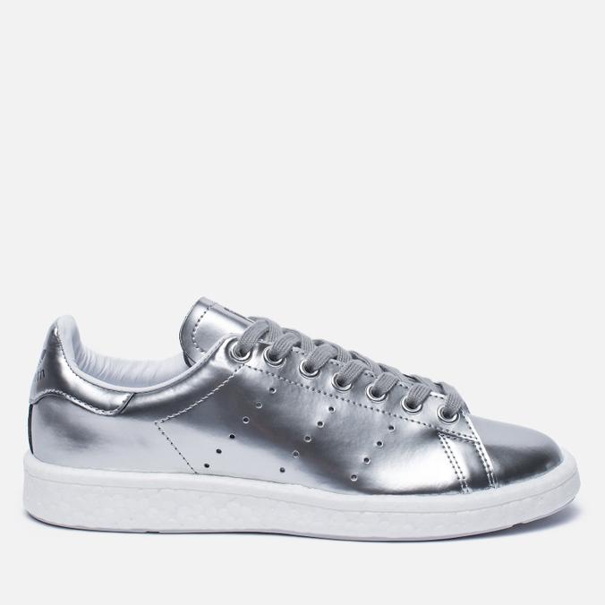 Женские кроссовки adidas Originals Stan Smith Boost Metallic Pack Silver