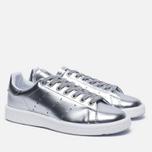 Женские кроссовки adidas Originals Stan Smith Boost Metallic Pack Silver фото- 2