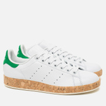 Женские кроссовки adidas Originals Stan Smith Luxe Vintage White/Green фото- 1