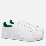 Женские кроссовки adidas Originals Stan Smith Nuude White/Green фото- 1