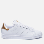 Женские кроссовки adidas Originals Stan Smith White/Gold фото- 0