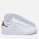 Женские кроссовки adidas Originals Stan Smith White/Gold фото- 2