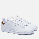 Женские кроссовки adidas Originals Stan Smith White/Gold фото- 1