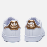 Женские кроссовки adidas Originals Stan Smith White/Gold фото- 3