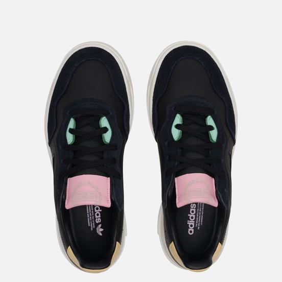 Женские кроссовки adidas Originals Super Court Premiere Core Black/Core Black/Easy Yellow
