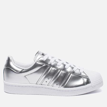Женские кроссовки adidas Originals Superstar Boost Silver Metallic/White