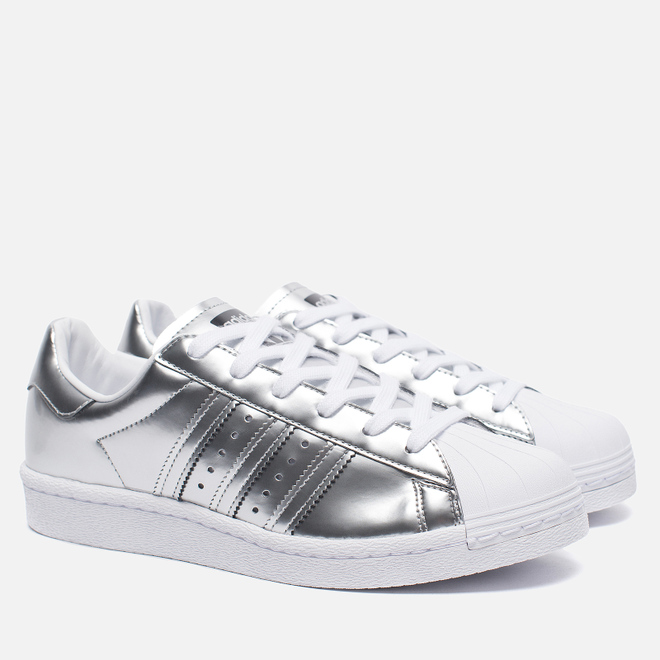 Женские кроссовки adidas Originals Superstar Boost Silver Metallic/White