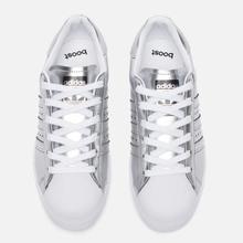 Женские кроссовки adidas Originals Superstar Boost Silver Metallic/White фото- 1