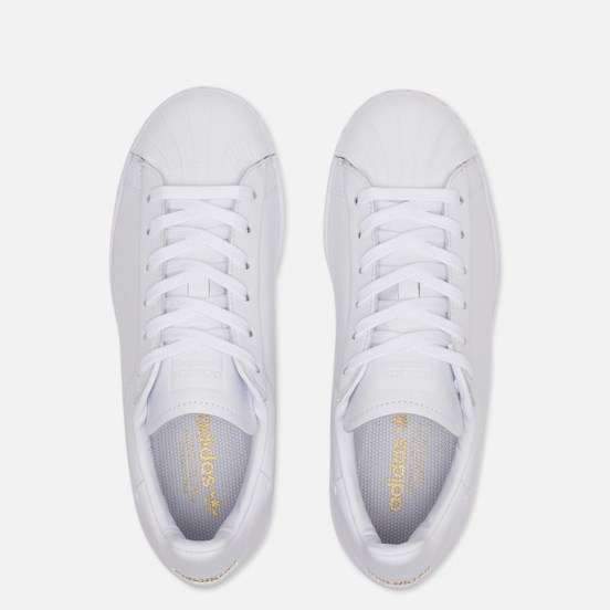 Женские кроссовки adidas Originals Superstar Pure LT White/Core Black/Gold Metallic