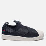 Женские кроссовки adidas Originals Superstar Slip-On Core Black/Core Black/Chalk White фото- 0