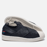 Женские кроссовки adidas Originals Superstar Slip-On Core Black/Core Black/Chalk White фото- 2
