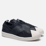 Женские кроссовки adidas Originals Superstar Slip-On Core Black/Core Black/Chalk White фото- 1